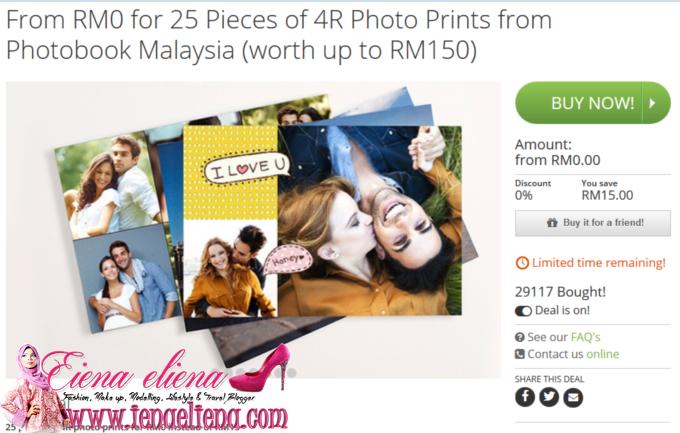 Photo Print Percuma Dari Photobook di Groupon