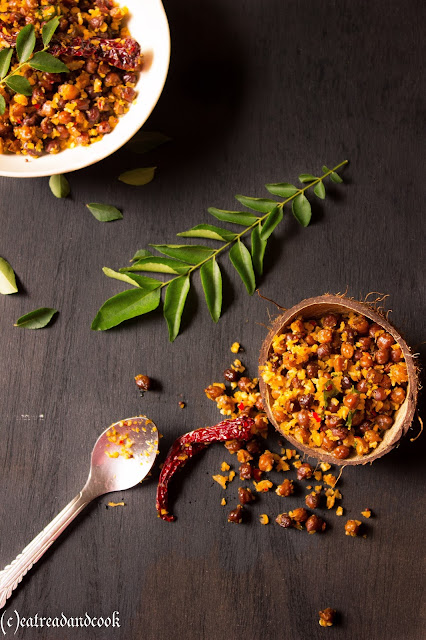 how to make kala chana sundal recipe