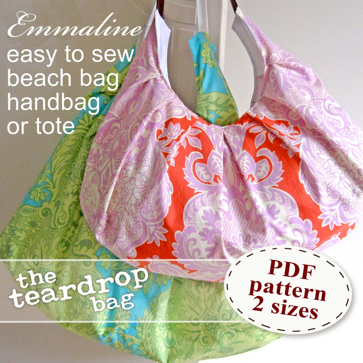 Emmaline bags sewing patterns and purse supplies the teardrop emmaline bags sewing patterns and purse supplies the teardrop bag pattern makeover o rings and a zipper gusset jeuxipadfo Gallery