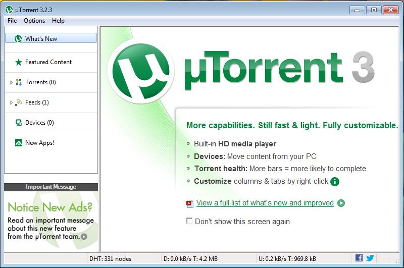 utorrent software latest version