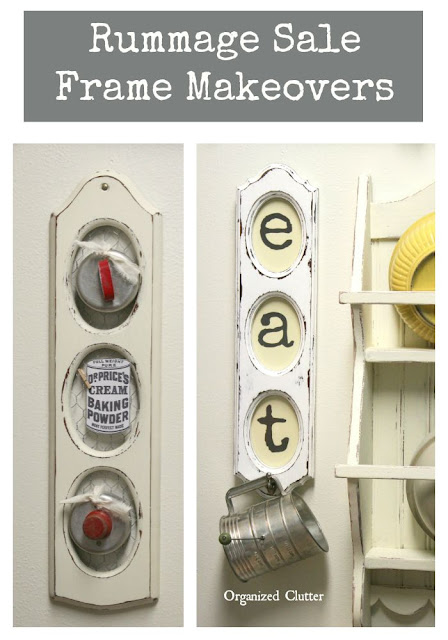 Inexpensive Frame Makeovers www.organizedclutter.net