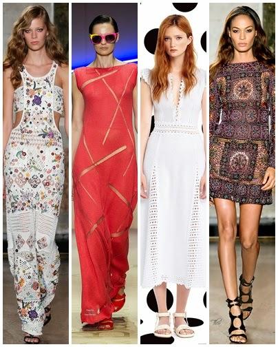 Vestidos em crochet - Dior, Emilio Pucci, Laura Biagiotti verão 2015