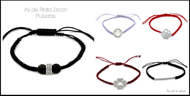 As de Plata Zircon Pulseras - As art in silver Joyería Blanes Plata