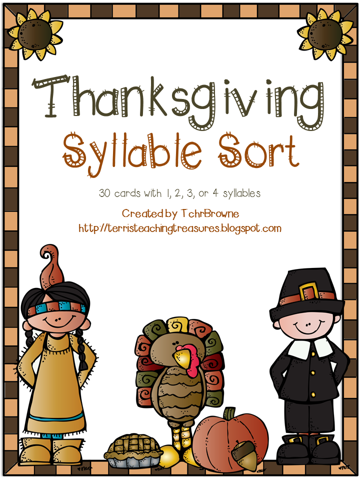 http://www.teacherspayteachers.com/Product/Thanksgiving-Words-Syllable-Sort-974061