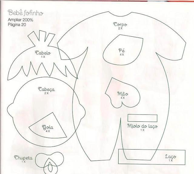 Manualidades Luna Clara: Bebe en goma eva