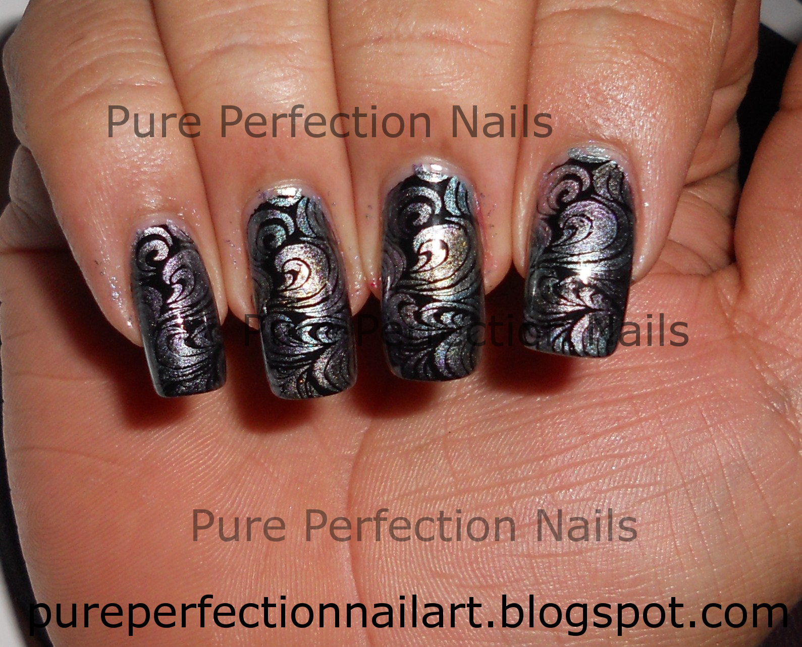 Pure Perfection Nails: Multi Chrome Stamping Nail Art