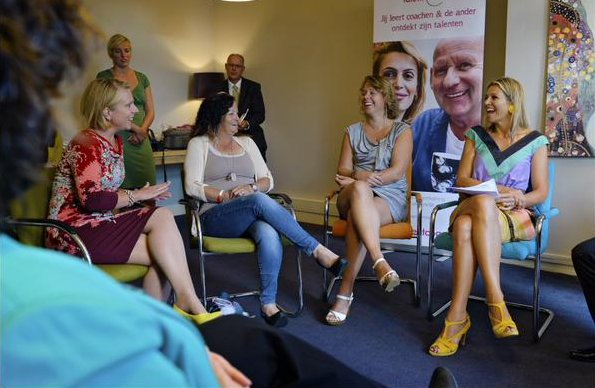 Queen Maxima visits the Talent Coach foundation in the Hague