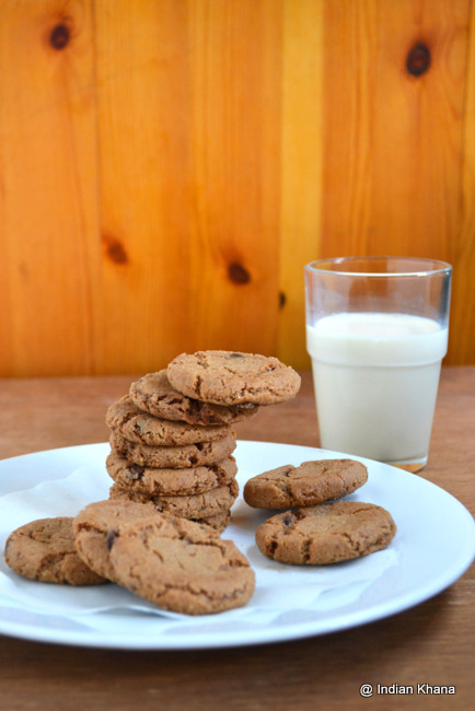 Eggless Double Chocolate Chip Cookies
