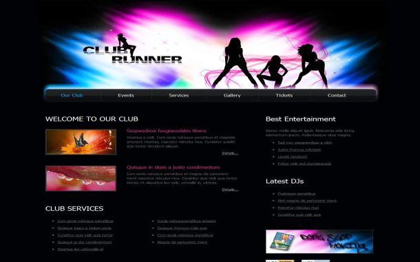 Music Club Abstract HTML CSS Website Template