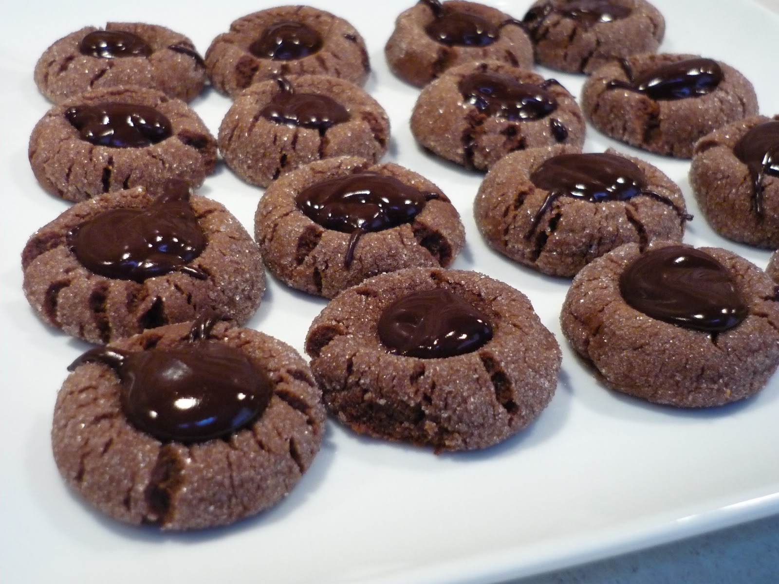 Kathy's Kitchen: Chocolate Peppermint Thumbprint Cookies