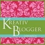Der farblich hervorragend zu meiner Seite passende Kreativ Award