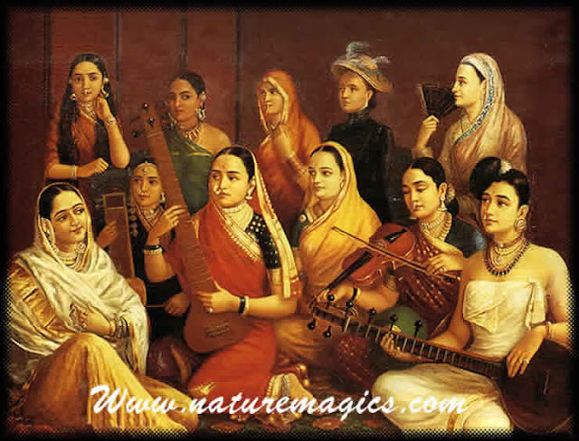 Raja Ravi Varma's Painting: Galaxy of Musicians