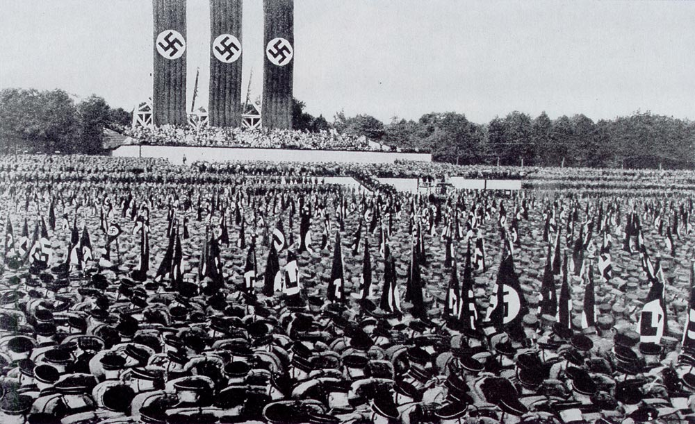 the gallery for gt hitler speech crowd