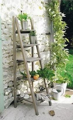 Maderas y chapas for Escalera de jardin de madera