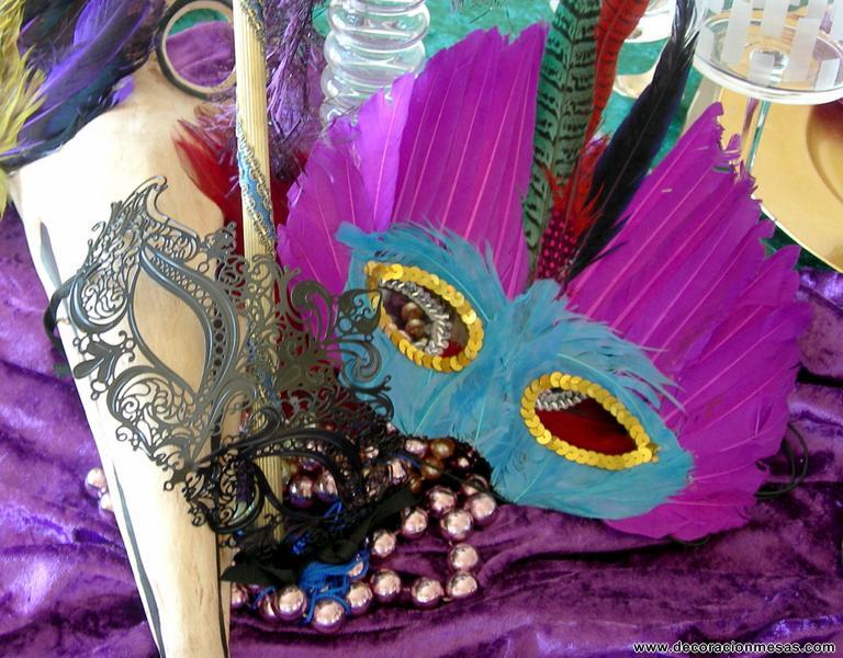 Decoracion de mesas mesa carnaval veneciano - Mascaras venecianas decoracion ...
