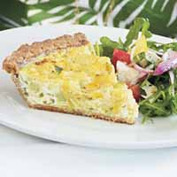 Weight Loss Recipes : Cauliflower and Leek Quiche