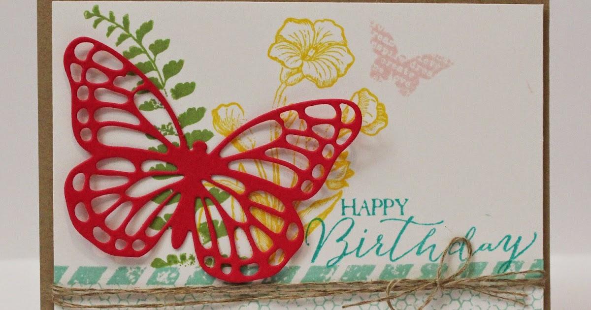 amanda sevall designs  365 cards  happy birthday butterfly