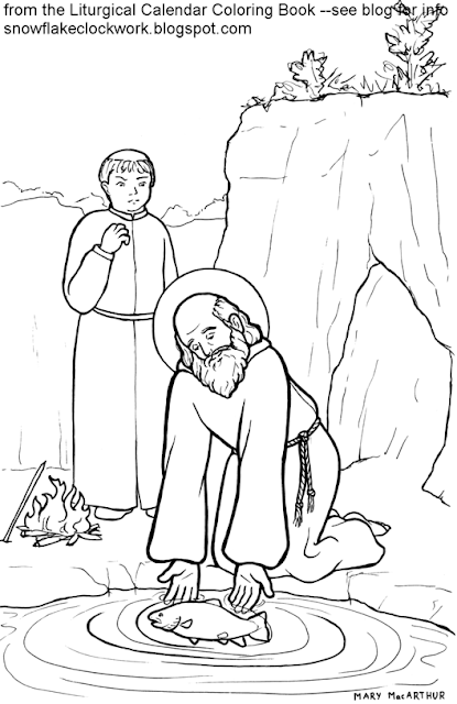 Saint Francis Of Assisi Coloring Page