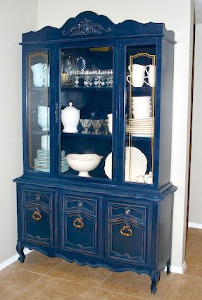 Navy Blue China Cabinet