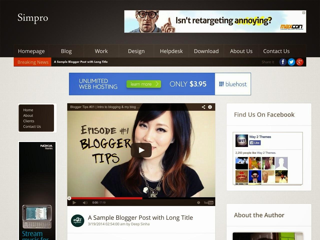 Simpro Professional Blogger Template