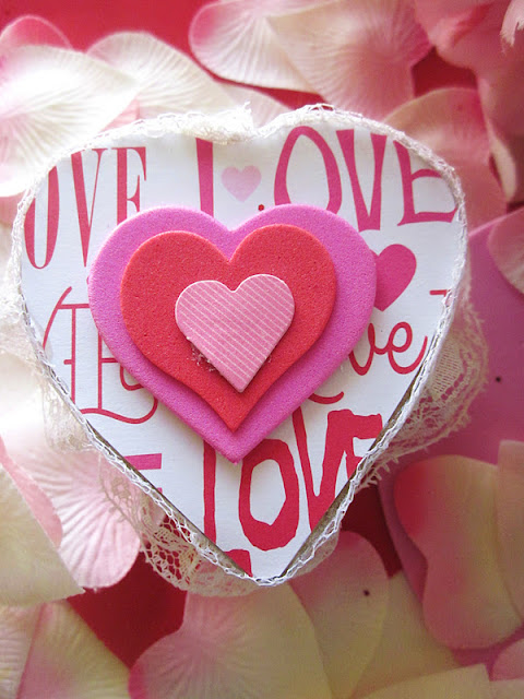 Homespun With Love: DIY Box Of Valentine Chocolates