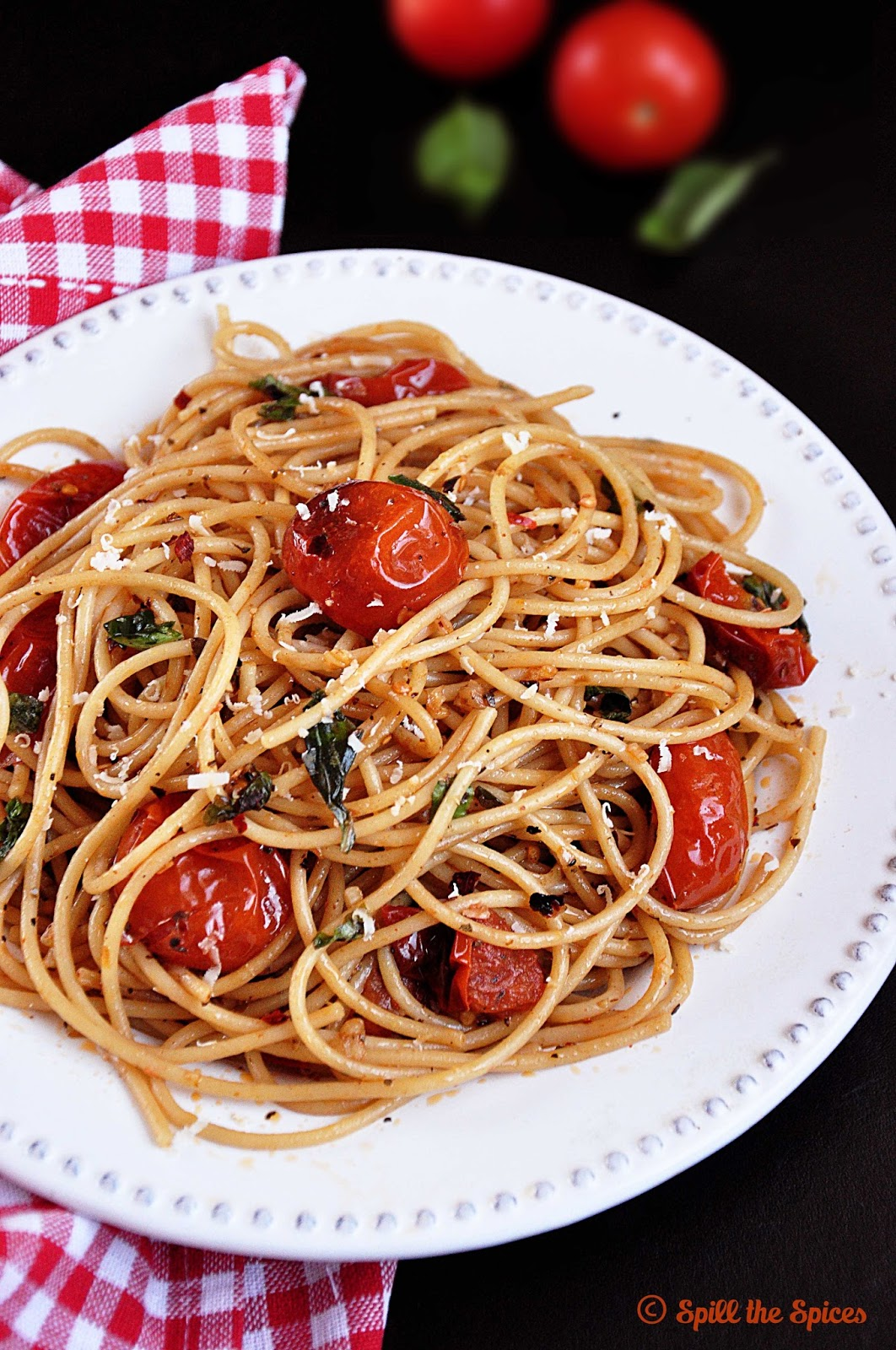Roasted Cherry Tomato Pasta | Spill the Spices