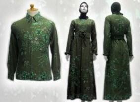 Model baju batik Muslim ok