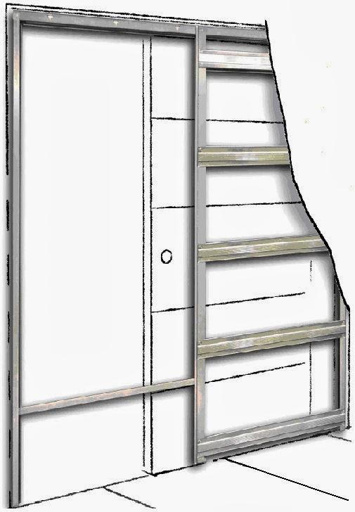 Lumasa proyectos y reformas cada centimetro cuenta recursos para ahorrar espacio en casa - Casoneto para puerta corredera ...