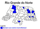 MUNICIPIOS COM GUARDAS MUNICIPAIS NO RN