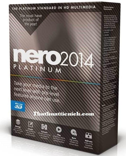 Tải Nero 2014 Platinum Full Crack + Hướng dẫn Crack