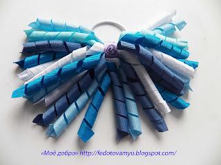 Резиночки для волос из ленточек