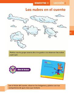 Apoyo Primaria Español 1er grado Bimestre 2 lección 6 Las nubes en el cuento