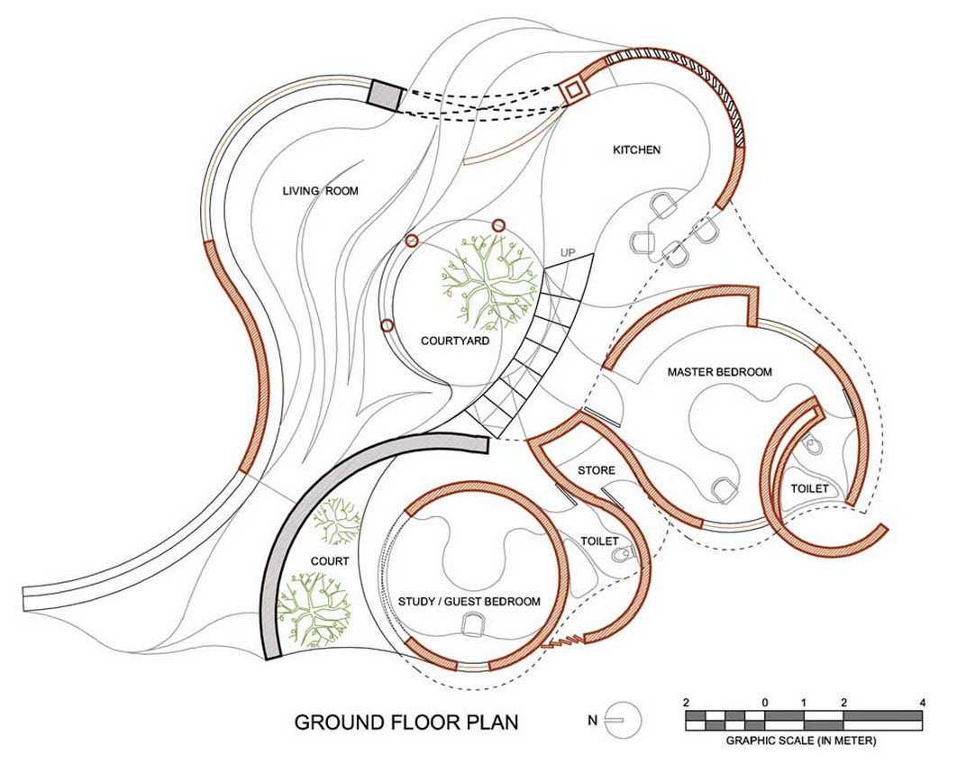 Construccion Baño Bajo Escalera:REVISTA DIGITAL APUNTES DE ARQUITECTURA: Casas curvas y circulares
