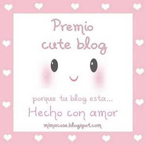 Premio al blog hecho con amor de mis amigas Tara y Bea