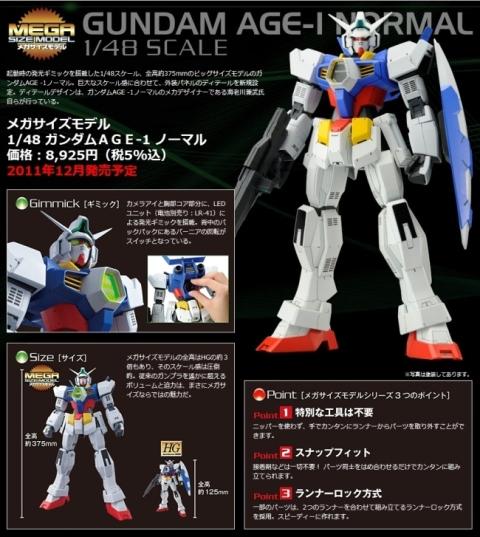 Mega Size Gundam AGE-1 Normal
