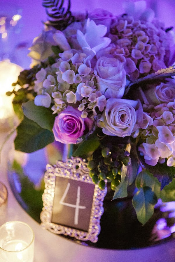 Purple White Green Wedding Flowers
