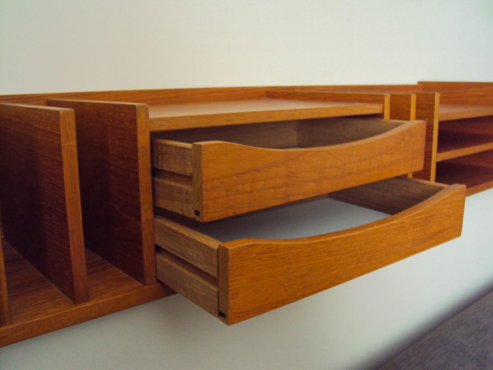 Red cent modern pedersen hansen teak desk organizer sold - Modern desk organizers ...