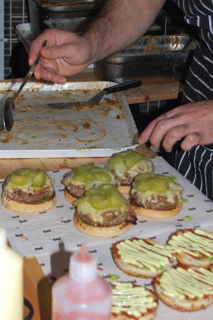 London Burger Bash - Elliot's Burger being dressed