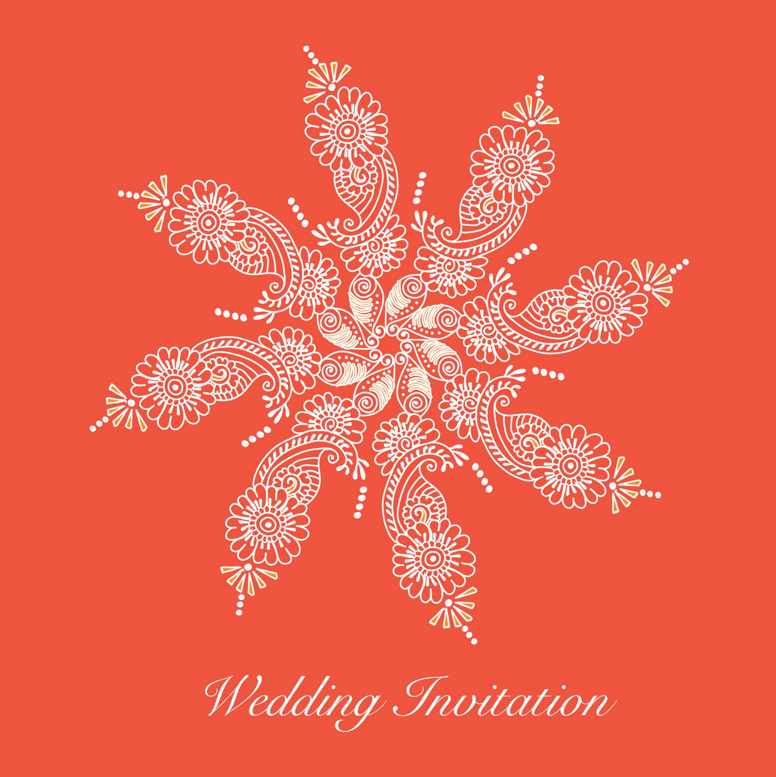 Wedding Invitation in Pantones Colour of the Year 2012 \