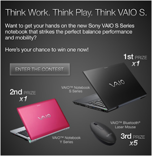 Sony Vaio 'Think Work. Think Play. Think Vaio S.' Contest