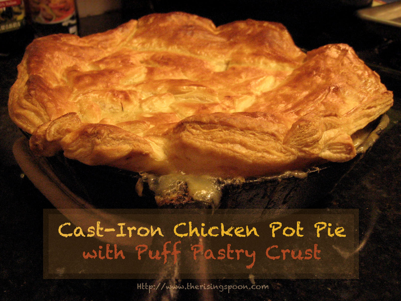 The Rising Spoon: Cast-Iron Chicken Pot Pie with Puff ...