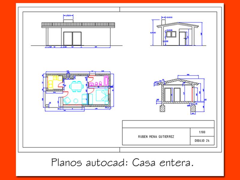 Oscar silva juarez 5iv05 agosto 2011 Planos de casas en autocad