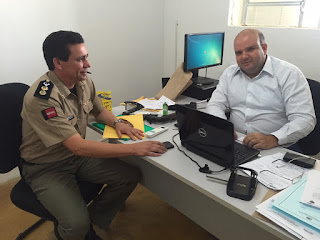 Delegado Civil de Cuité se reúne com comandante do 9º BPM para fazer balanço das últimas operações