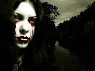 Bleeding Eyes Dark Gothic Wallpaper