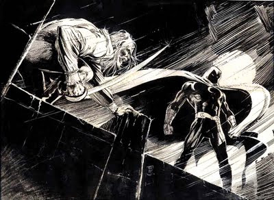 Dibujo de Caballero Luna por Bill Sienkiewicz