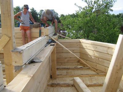 Строим новый деревянный загородный дом из профилированного бруса
