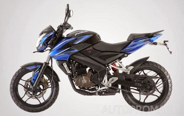 The Bajaj Pulsar 200 NS BLUE- BLACK color