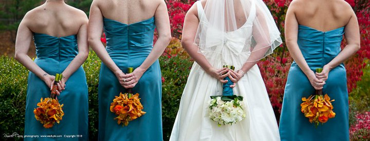 Burnt Orange And Teal Perfect Color Combination For Our Autumn Brides