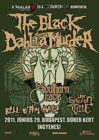 The Black Dahlia Murder koncert - plakát