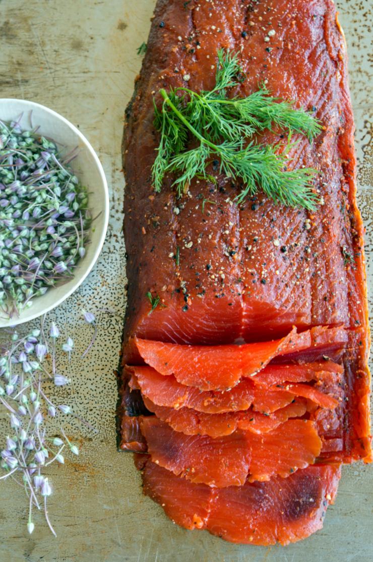 Wild alaskan sockeye salmon
